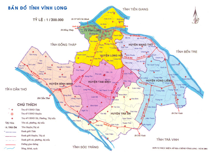 Ban do tinh Vinh Long