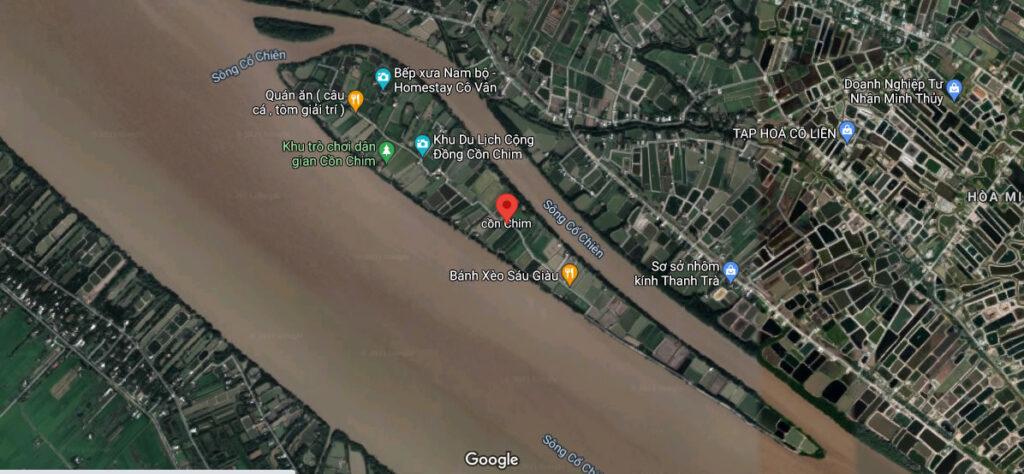 Bản đồ google map Cồn Chim